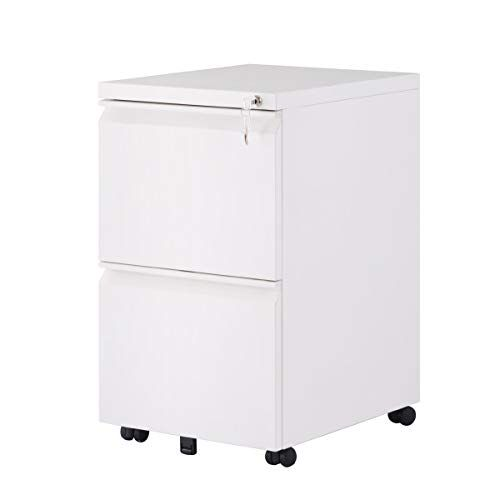 Vertical File Cabinet With Keys Lock 2 Drawers 5 Rolling Wheels Mobile Metal Filing Cabinet For Home And Office 15 Filing Cabinet Metal Filing Cabinet Drawers