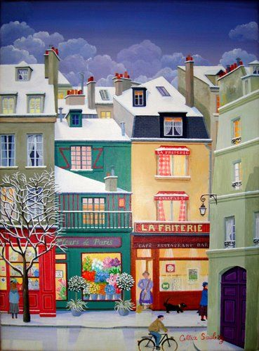 Paintings by cellia saubry french naive artist inspiration pinterest maison na ve et frites - Decoratie friterie ...