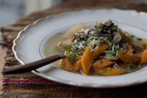 carrot & fennel soup
