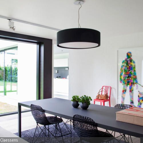 moderner schwarzer esstisch – dogmatise, Esszimmer dekoo