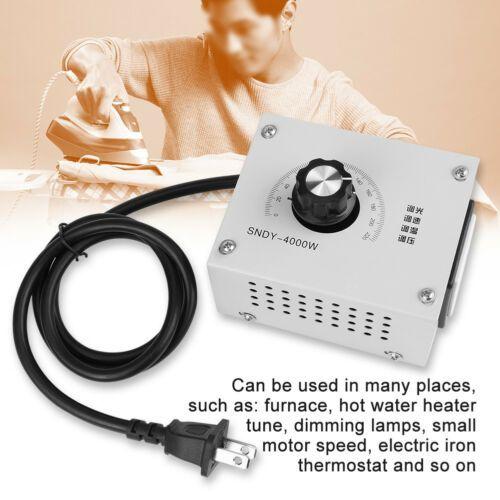 4000W AC 220V Variable Voltage Controller Regulator For Fan Speed Motor Control