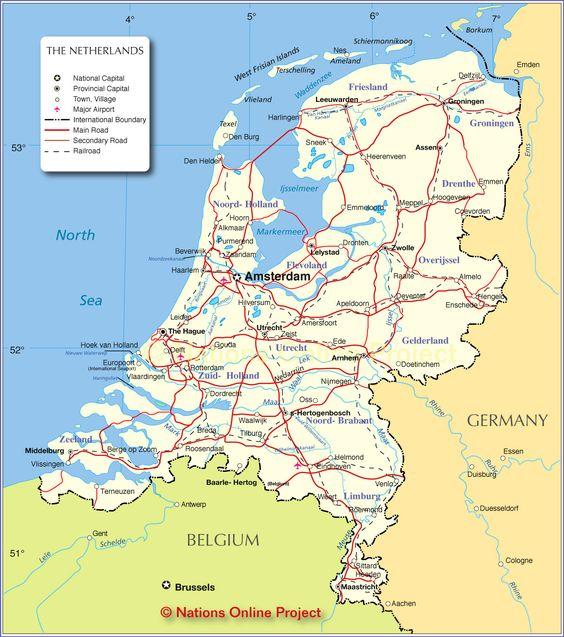 httpnationsonlineorgmapsnetherlandsmapjpg Shows rail – Map of Germany and Holland Together