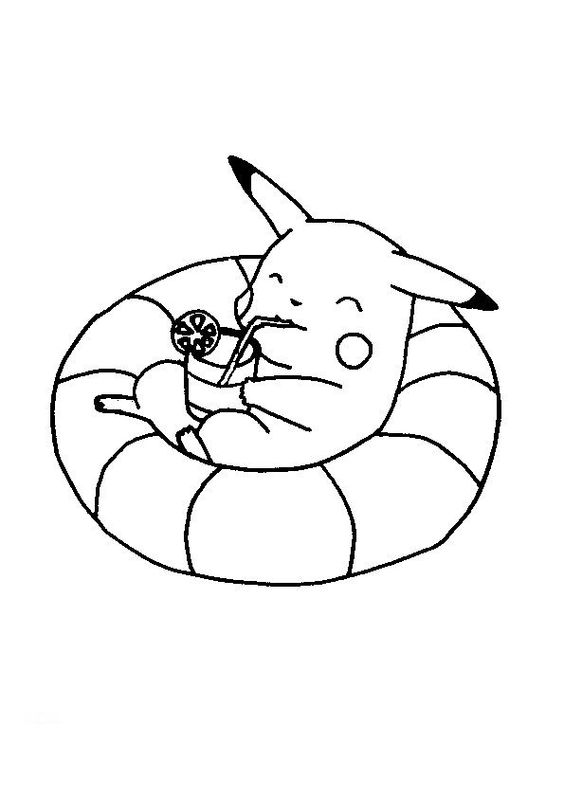Cute baby pikachu coloring pages - photo#12