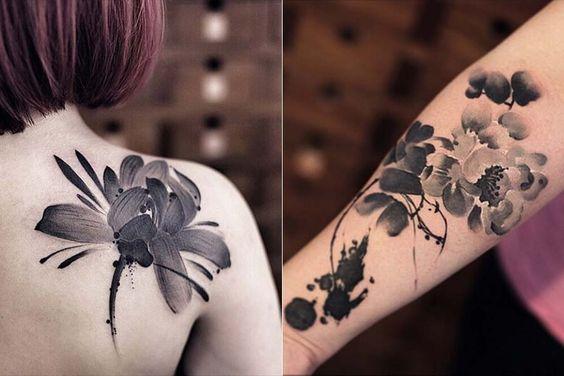 As tatuagens em aquarela de Chen Jie   Just Lia