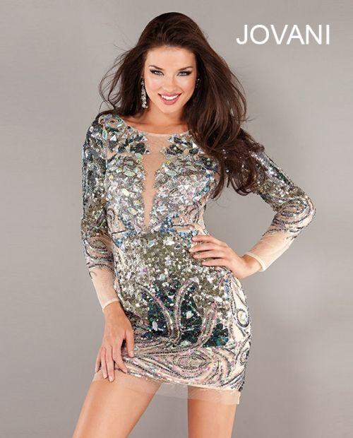 Jovani gold sequin short dress