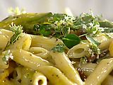 Beautiful Zucchini Carbonara: