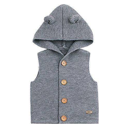 Fineser TM Toddler Baby Girls Boys Sleeveless Solid Knitted Sweater Vest Cute Baby Causal Waistcoat