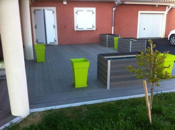 Lame terrasse en bois composite  MDSAFrance  Gris anthracite  Prix