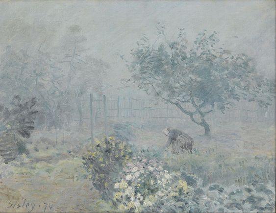 """Fog, Voisins"" - Alfred Sisley (1874)"