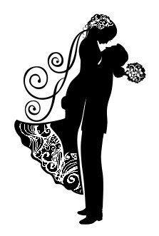 Свадебные силуэты фото #7