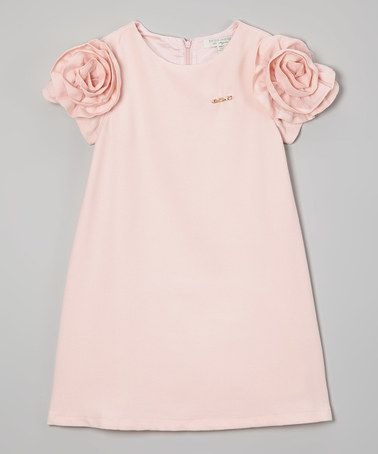 Another great find on #zulily! Pink Floral Puff-Sleeve Dress - Toddler & Girls #zulilyfinds