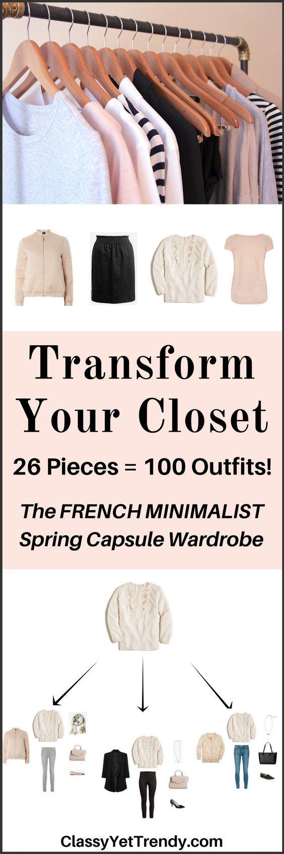 The French Minimalist Capsule Wardrobe: Spring 2017