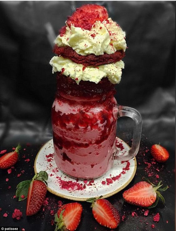 Patissez has once again one-upped the #foodporn culture with their red velvet inspired freakshake (pictured)