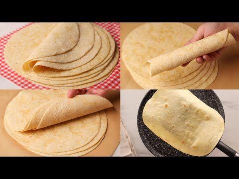خبز التورتيلا لسندوتشات الشاورما و كل أنواع السندوتشات ينافس الجاهز وبقوة Youtube Cooking Recipes Food Cooking