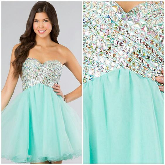 Cute teal short prom dress  Prom  Pinterest  Prom dresses The ...