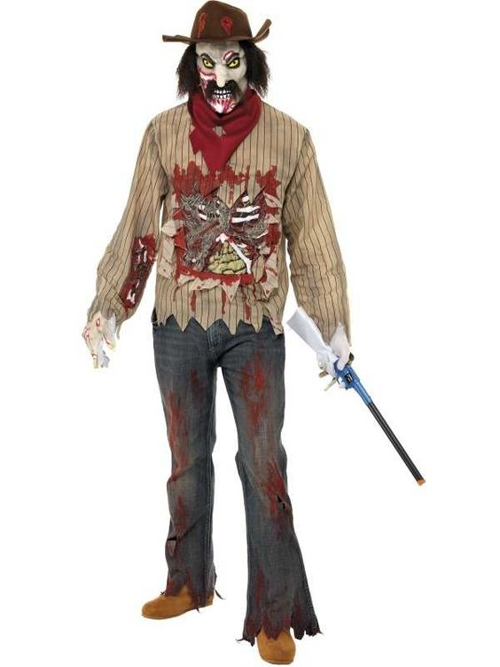 Zombie Cowboy Horror Halloween Kostuum