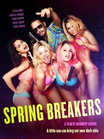 Spring Breakers [PN1997.2 .S67 2013] Four frustrated college girlfriends plot to fund their best spring break ever by burglarizing a fast-food shack. But that's only the beginning: during a night of partying, the girls get arrested. Hung over and clad only in bikinis, the girls appear before a judge and get bailed out unexpectedly by Alien, an infamous local dealer who takes them on the wildest spring-break trip in history.