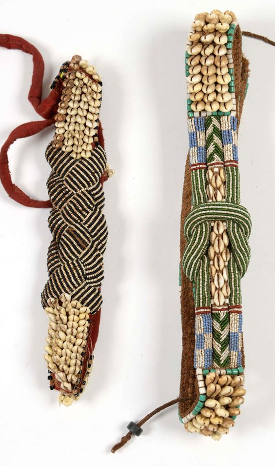 Africa   Belts from the Kuba people of DR Congo   Cloth, shells, glass beads and natural fibers