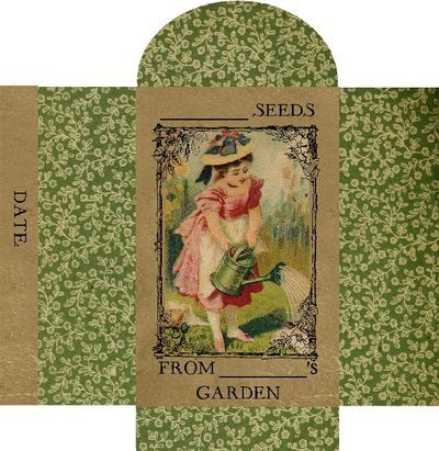 lovely little seed packet to make