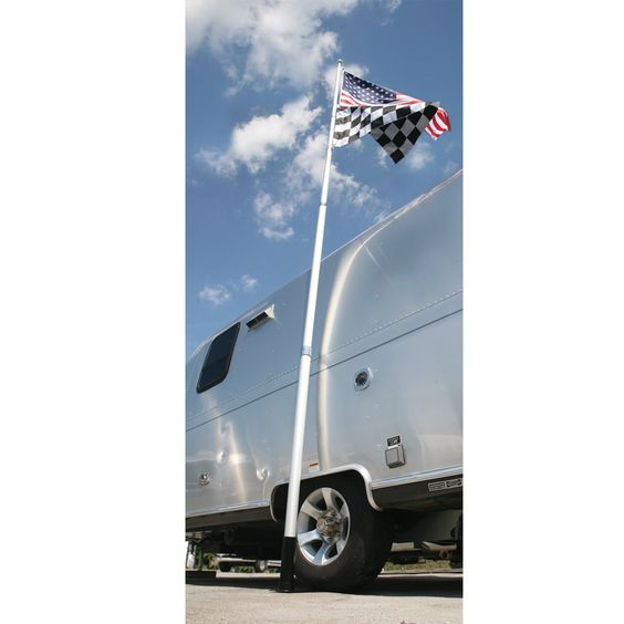 Fly two flags on a portable 20' Telescoping Flagpole.