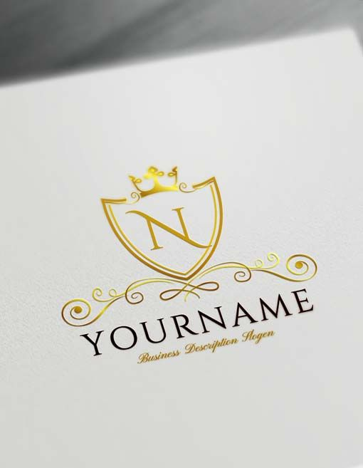 Online Luxurious Royal Logo Design Free Logo Maker Vintage Logo Maker Logo Design Free Templates Logo Design Free