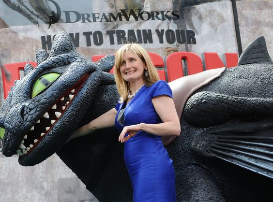 Cressida Cowell with Toothless