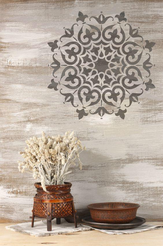 SHIMLA Mandala Furniture Wall Floor Stencil for Paint 25cm