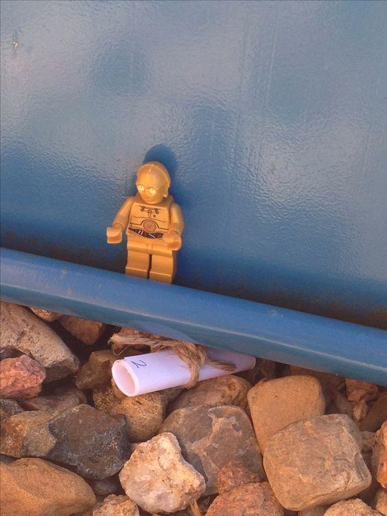 Star Wars lego party scavenger hunt