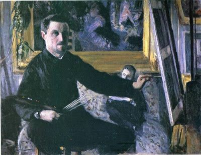 Gustave Caillebotte - Self-Portrait With An Easel, 1879-1880