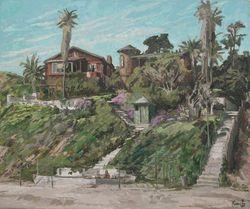 """""""Old Houses Laguna"""" by Roger Kuntz"""