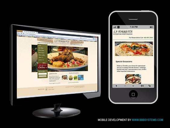 Mobile website for La Torretta by BBB Systems