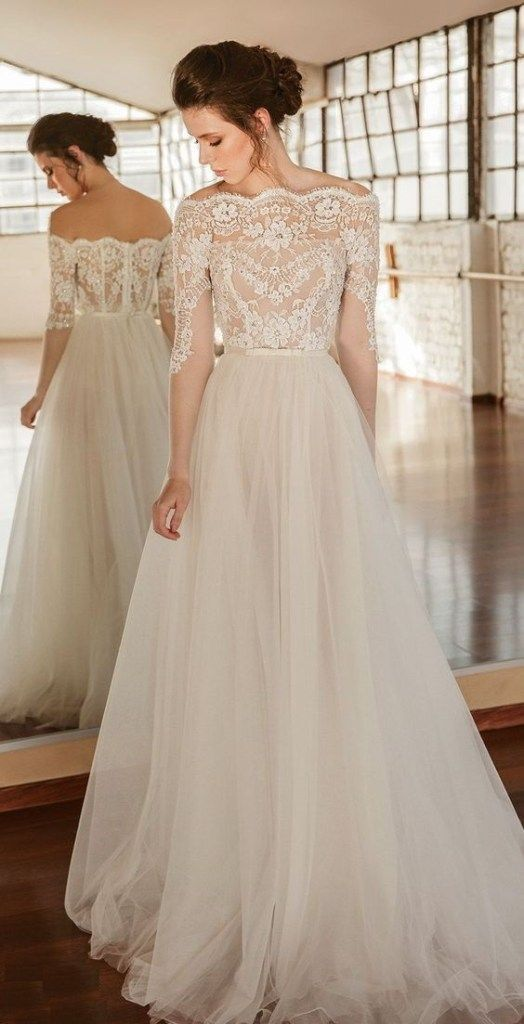 20 Classy Wedding Gowns Lace Fit And Flare Bridal Style For Simple Princess Look Girls Bridesmaid Dresses Wedding Dresses Ball Gown Wedding Dress