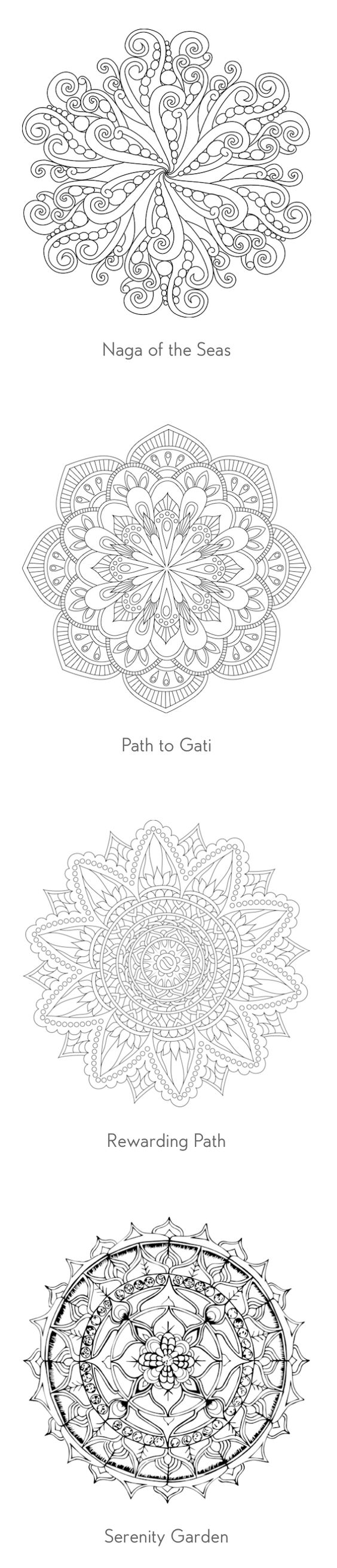Over 60 free coloring pages of mandalas!