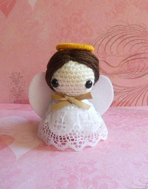 Amigurumi De Angel : Crochet Amigurumi Angel - muneco Miniatura jere ...