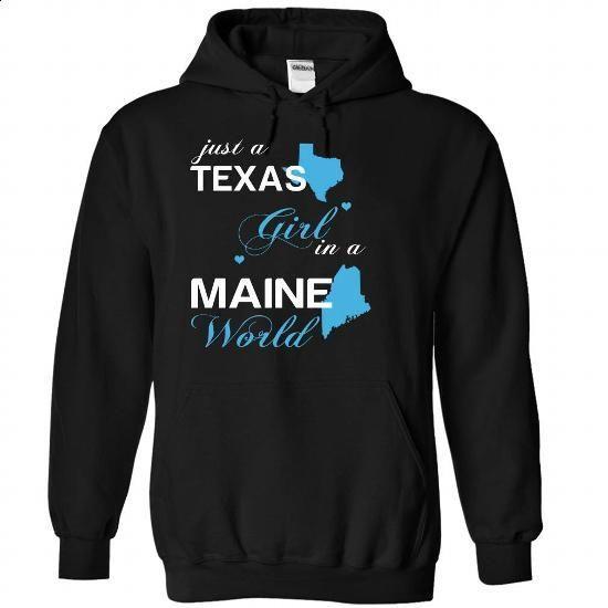 (TXJustXanh001) Just A Texas Girl In A Maine World - #blank t shirt #t shirt websites. GET YOURS => https://www.sunfrog.com/Valentines/-28TXJustXanh001-29-Just-A-Texas-Girl-In-A-Maine-World-Black-Hoodie.html?id=60505