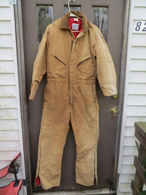 Vtg Brown Insulated Coveralls By Zero Zone By Walls Sz Insulated