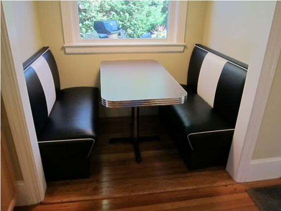 Exceptional Booth Seating In Nook   Kitchen Nook: Seating, Diner Booth, Retro Table    For The Home   Pinterest   Booth Seating, Retro Table And Diners