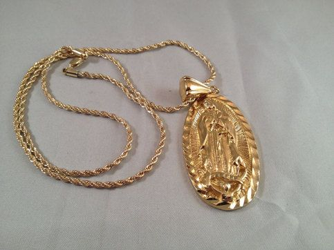 Our Lady Of Gudalupe Gold Necklace Containes A Gold Chain Has A Large Our Lady Of Guadalupe Penda Black Hills Gold Jewelry Pendant Necklace Beautiful Necklaces