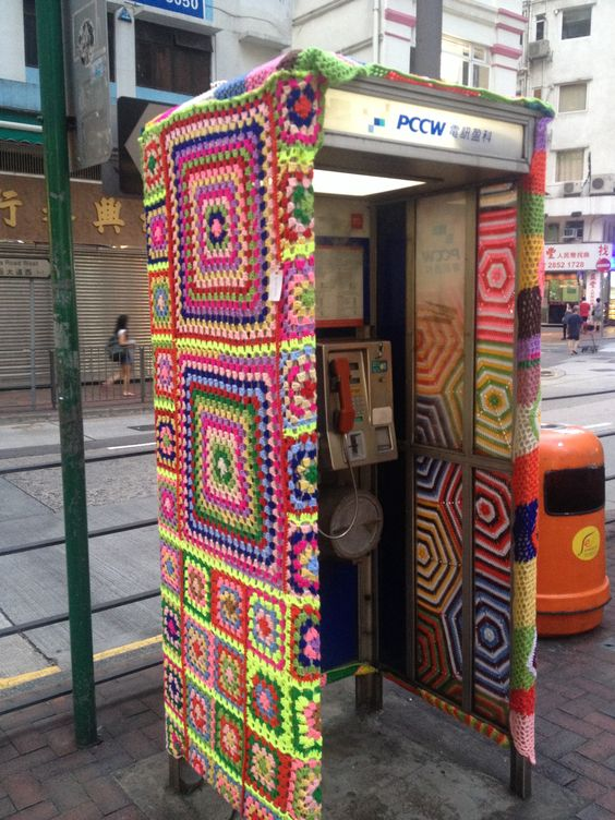 Day 338 (a crocheted phone box...sure)