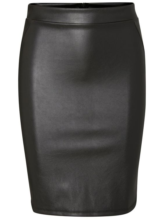 Pencil skirt in imitated leather from VERO MODA.