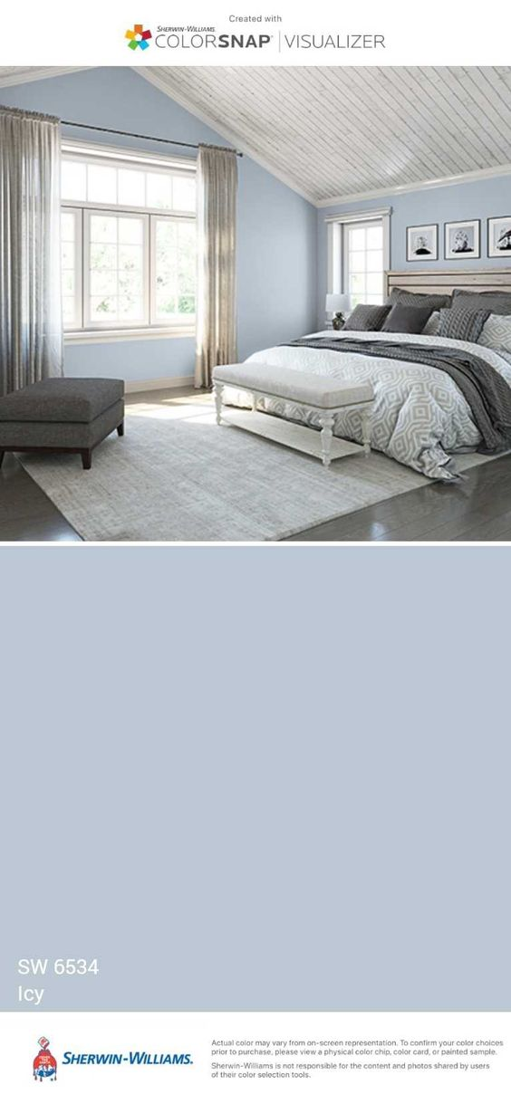 Sherwin Williams 6534 Icy Bedroom Wall Colors Bedroom Paint Colors Bedroom Colors