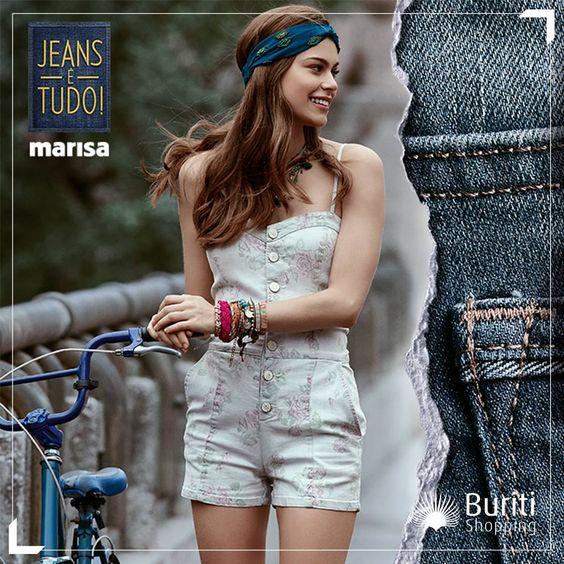 """Como todo clássico, o jeans continua sendo peça chave no guarda-roupa.   Por isso, a nova coleção """"Jeans é Tudo!"""" da Marisa traz modelos lindos para você arrasar. Não deixe de passar na loja para conferir tudo de perto!"""