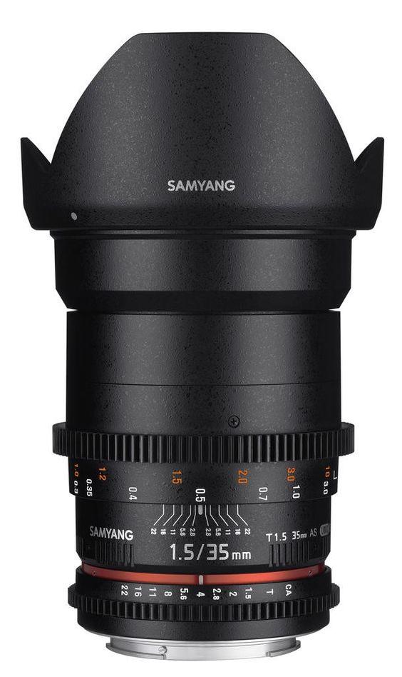 Samyang 35mm T1.5 AS UMC VDSLR II. Available mount in Canon EF/Nikon F/Sony E full frame and MFT.