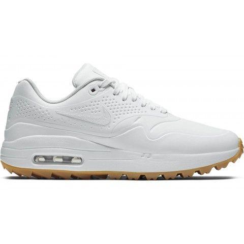Nike Womens Air Max 1 G Golf Shoes 2019 White White Gum In 2020 Womens Golf Shoes Cute Nike Shoes Nike Womens Golf