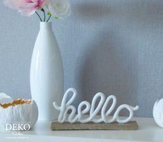 DIY: hübsche Deko-Schriftzug aus Fimo selber machen! Das Tutorial findet ihr auf www.deko-kitchen.de