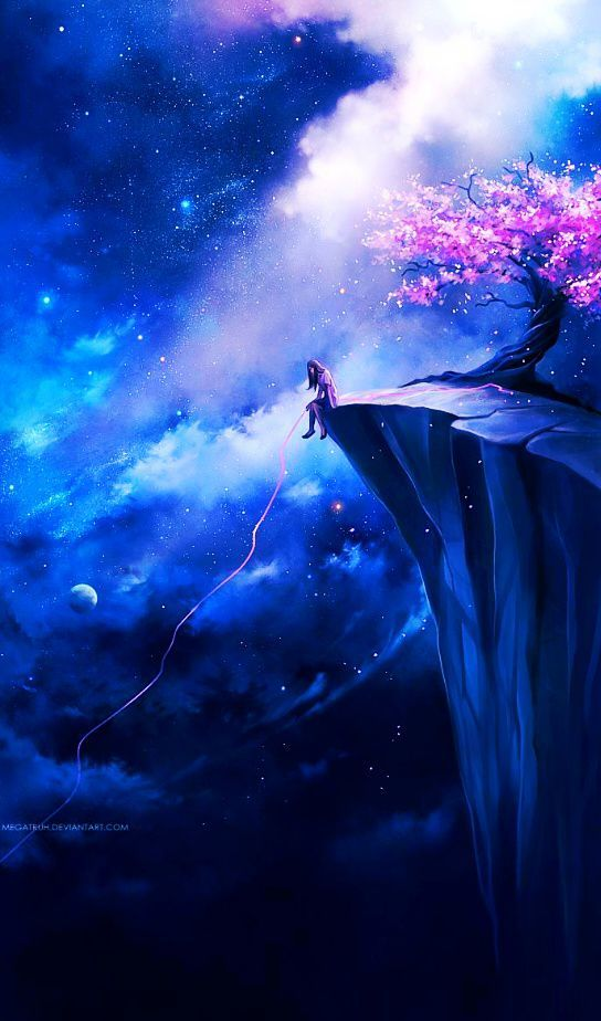 Beautiful anime space wallpaper