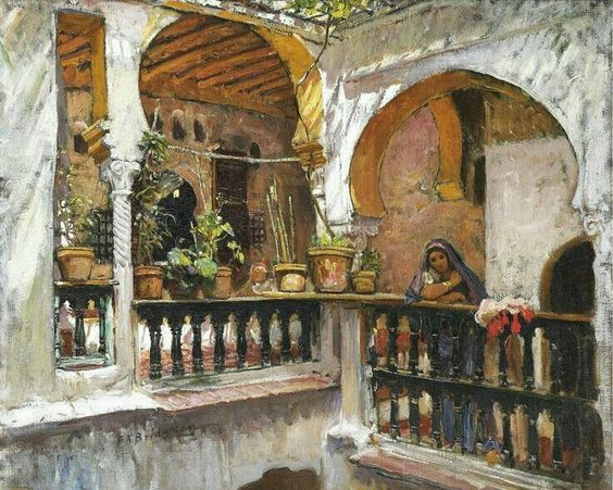 Toile espagnol and ench res on pinterest - Peinture satinee algerie ...