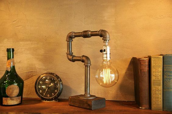 Globe Edison Industrial Lamp With Weathered Base