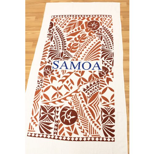 Beach Blanket Experiment: Samoan Tapa Designed Beach Towel