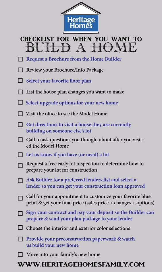 Planning to build a house checklist house design plans for Building a house checklist